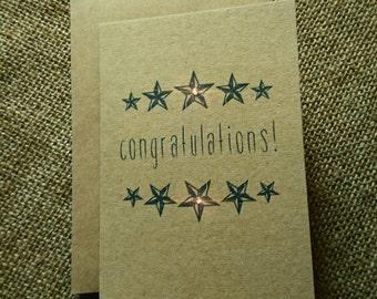 "Stars ""Congratulations"" greeting card"