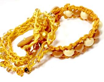 Bracelet Sets,Hemp Bracelet,Sets Bracelet,Two piece bracelet set,Fall bracelets,macrame set,Gifts for her,Gifts for teens,Holiday,Macrame