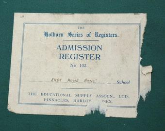 Holborn Series of Registers Admission Register No 102  Educational Supply Association Waldorf Steiner Education Act 1870 School Register