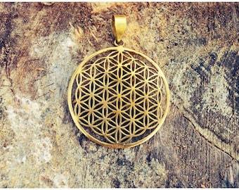 Flower of Life Pendant Sacred Geometry Pendant Yoga jewelry Brass pendant