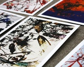 Original and unique postcards set of 8 in digital prints. Flowers and Abstract art postcards by Xavier Jaques M
