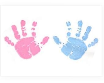 Canvas with Baby Paint Wipe / Swab - Choose Paint Colour