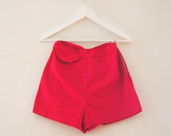 Red hot 1950s summer shorts