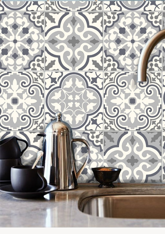 Tile stickers decal for kitchen bathroom back splash floor - Stickers pour carrelage cuisine ...