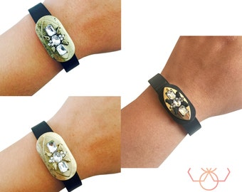 Charm to Accessorize the Fitbit Alta Tracker - The PRINCESS Gold Rhinestone Charm to Dress Up Your Favorite Fitness Tracker - FREE Shipping