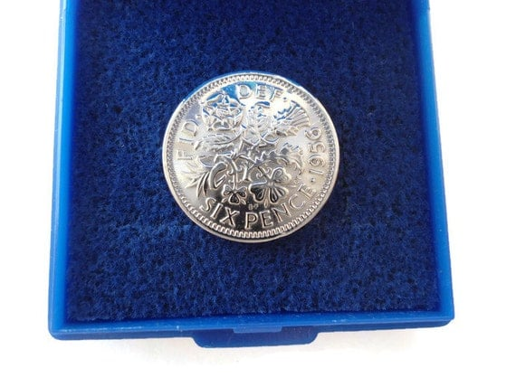 Silver Wedding Anniversary Gifts For Parents: 60th Wedding Anniversary Gift Silver Sixpence 60th By TansyBel