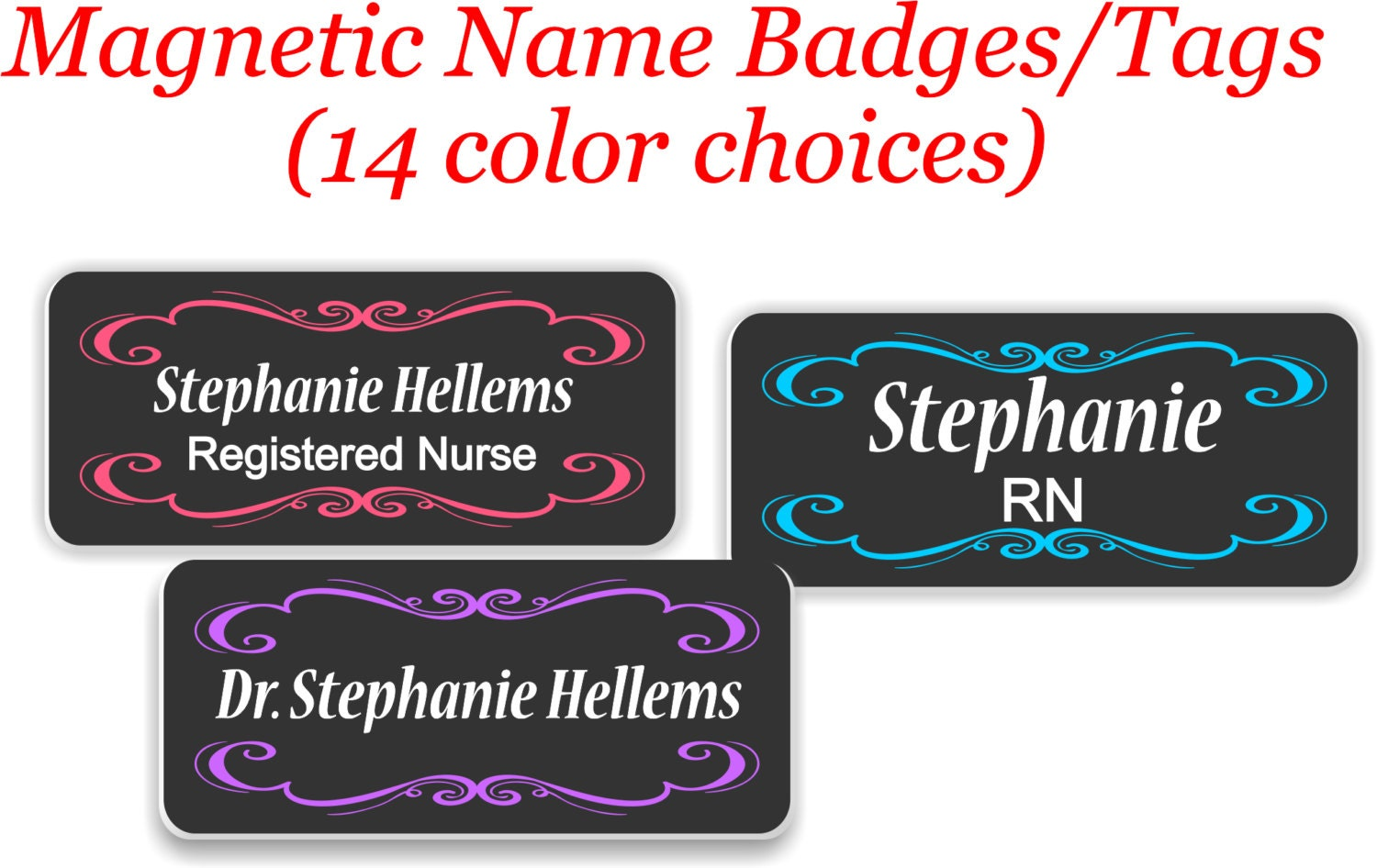 Name Badge: Name Badges With Magnetic Fastener Magnetic Name Badge/Tag