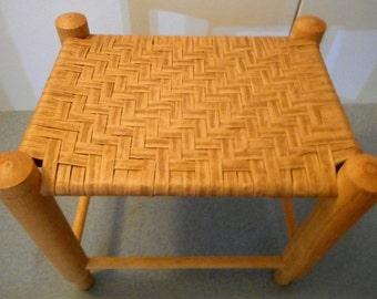 SALE! Vintage Woven Seated Stool...Rattan/wicker