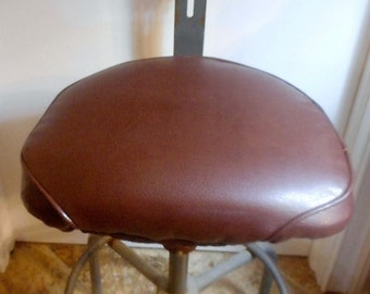 CLEARANCE SALE!! Newly upholstered vintage cramer industrial drafting stool