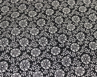 Black/White Cotton Cambric Fabric by the Yard, Cotton Yardage, Fabric Yardage, Yardage