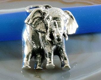 Elephant pendant 925 sterling silver - 2398