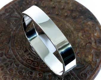 Bangle, elegant, 925 Sterling silver  - 4631