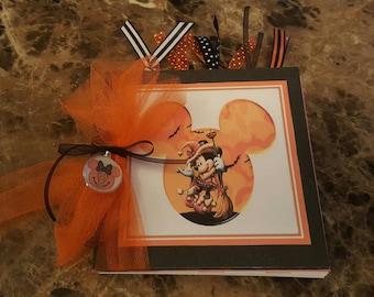 Minnie Mouse Halloween Autograph Book,  Scrapbook,  Smash Book, 6 x 6
