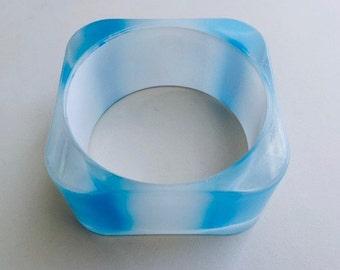 Mod Square Striped Bangle Bracelet