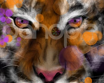 Clemson Tigers - Inspired Artwork - Tiger - Clemson University - The Tiger - ACC Football - College Football Art - 8x8 Photo Print