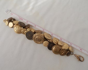 Button Bracelet Gold Button Bracelet  BB6