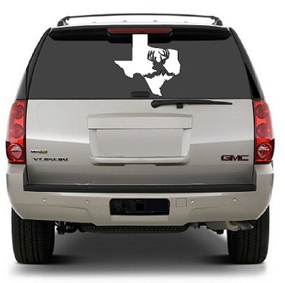 Back Windshield Hunting Decal Texas Hunting Truck Window Decal - Hunting decals for trucks