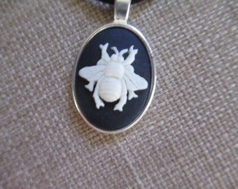Cameo {Bee} Pendant Necklace