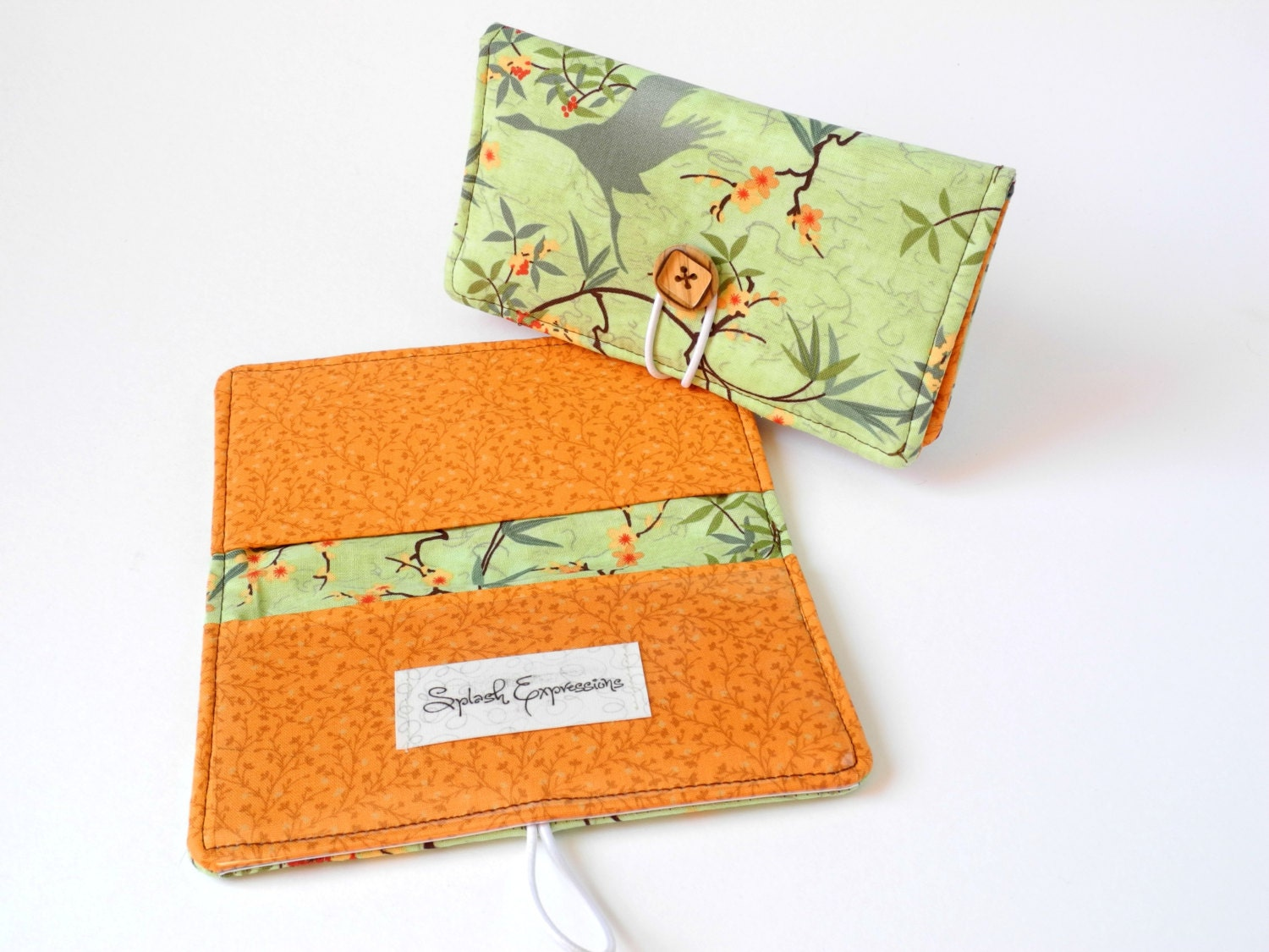 Fabric Cheque Book Cover : Fabric checkbook cover duplicate check carbon copy plastic