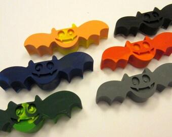 Set of 6 Colorful Batty Bat Crayons