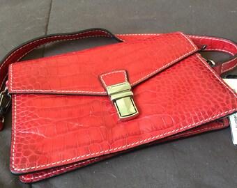 """Vintage Lidis """"mini bag"""" messenger handbag leather"""
