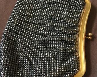 Unusual Vintage Whiting and Davis Mesh Metallic Purse Bag