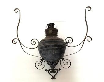 Antique Hanging Oil Lamp Lantern