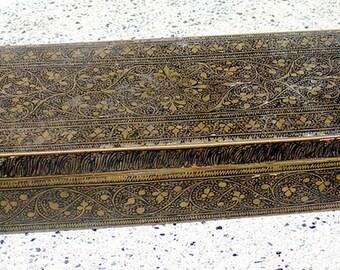 old brass pen box from Jaipur