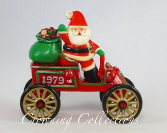 1979 Hallmark Here Comes Santa Santa's Motorcar Keepsake Ornament 1st in Series No Box Motor Car Vintage RARE Christmas