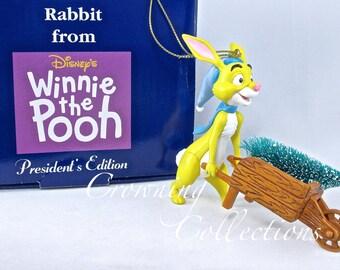 Grolier Rabbit Disney Ornament President's Edition Winnie the Pooh Christmas Tree Cart Wheel Barrow