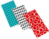 Handmade Burp Cloths with Modern Fabrics
