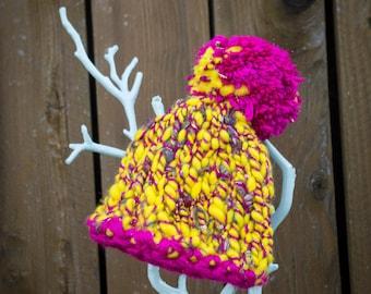 Newborn Mega-Pom Pixie Hat