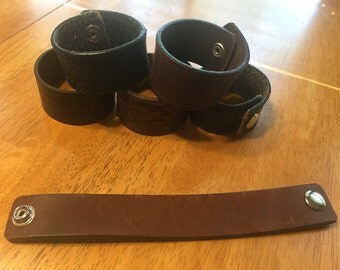 Upcycled Leather Cuff Bracelet