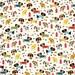 Dog Fabric, Dachshund Fabric, Childrens Fabric, Rover Dog Park by Riley Blake, Cream, Cotton, 1 Yard
