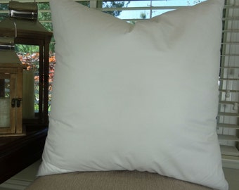 "20x20 Pillow insert Made in USA Hypoallergenic Down Alternative Polyfill, 20"" x 20"" pillow insert for an 18"" x 18"" pillow cover"
