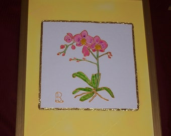 Stainglass Pink Orchid