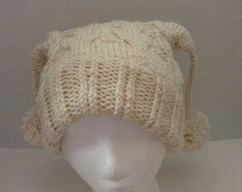 Knit Owl Square Hat