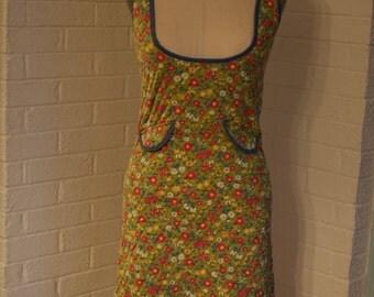 Vintage Green Low Cut Dress