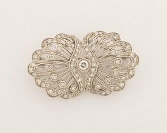 Diamond & Gold 'Butterfly Wing' Brooch