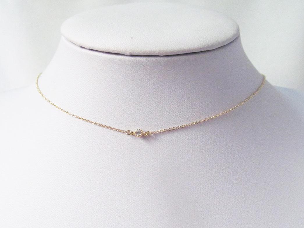 delicate choker necklace dainty choker necklace thin choker