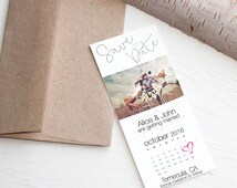 Ticket Size Photo Calendar Save the Date Magnet