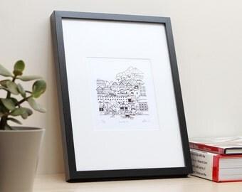 Teneriffe Brisbane –Unframed A4 signed screen print