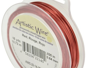 BEADALON ARTISTIC WIRE - 22 gauge 0.64mm Standard Colours (Various Available Colours)
