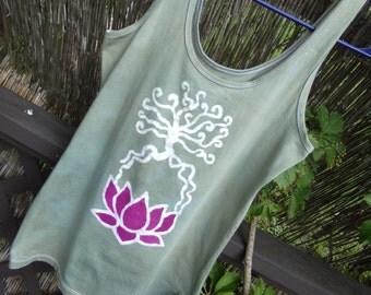 LOTUS plant your root batik tank