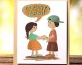 Rakhi card |ENGLISH| Digital Illustration of Sister tying Rakhi on Brother | Rakhee | Rakshabandhan