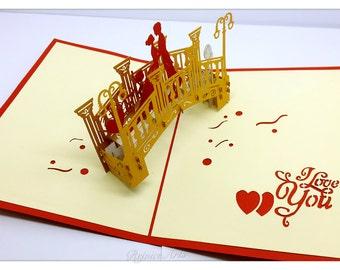 3D Pop Up I Love You Card