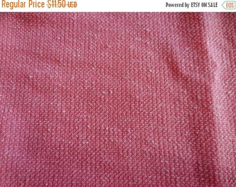 Vintage 1970s double knit polyester fabric pink 1 yard 20 inches x 62 inches