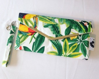 Door pocket card/Chequebook prints tropical toucan