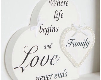 Family heart, gift, home gift, special gift, family, perfect gift, wooden heart. family quote,