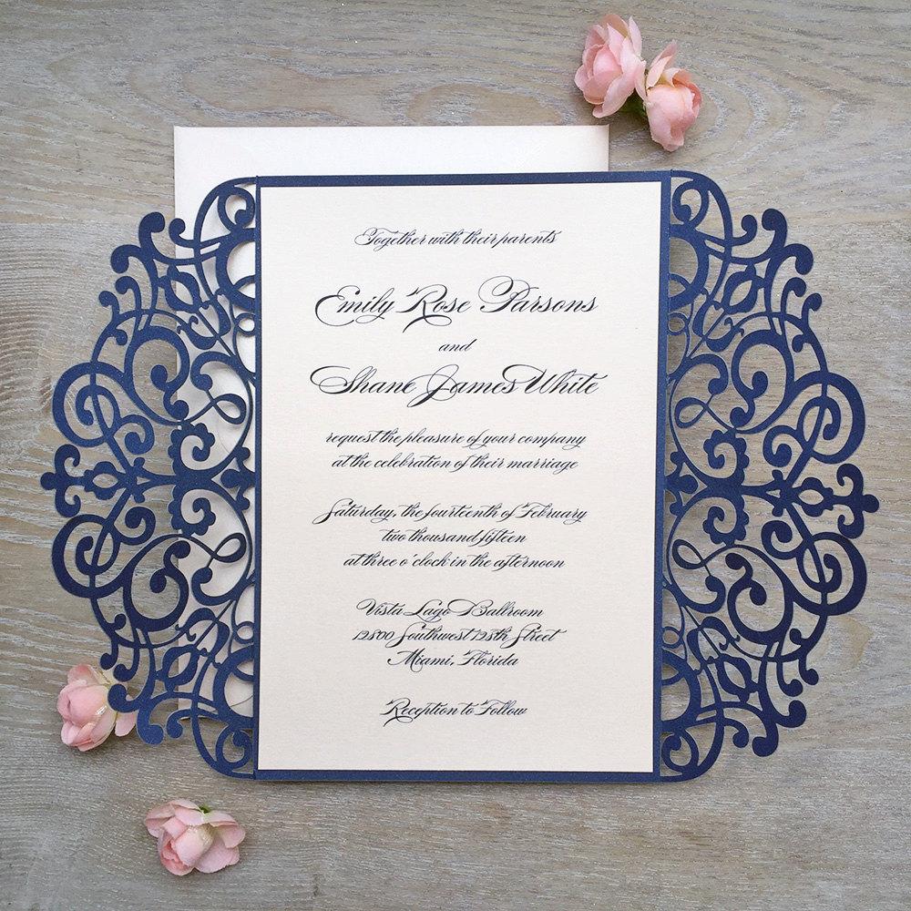Wedding Laser Cut Invitations: Gorgeous Laser Cut Wedding Invitation Inspiration